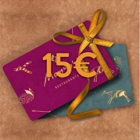 15 - 15€ Restaurant Gutschein