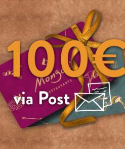 100 247x296 - 100€ Restaurant Gutschein (via Post)