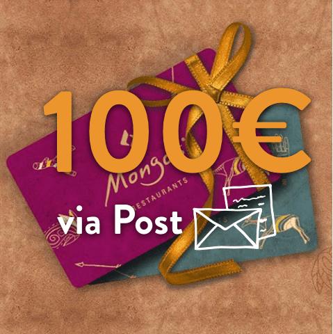 100 - 100€ Restaurant Gutschein (via Post)