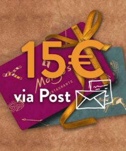 15 247x296 - 15€ Restaurant Gutschein (via Post)