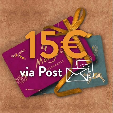 15 - 15€ Restaurant Gutschein (via Post)