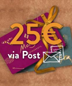 25 247x296 - 25€ Restaurant Gutschein (via Post)