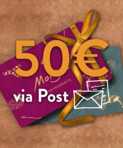 50 247x296 - 50€ Restaurant Gutschein (via Post)