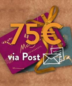 75 247x296 - 75€ Restaurant Gutschein (via Post)