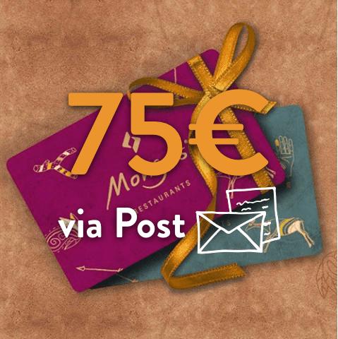 75 - 75€ Restaurant Gutschein (via Post)